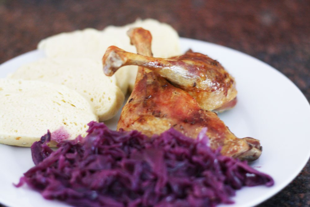 czech roasted duck with caraway seeds
